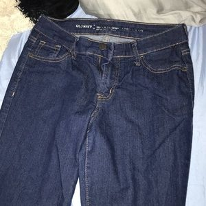 Old Navy Mid Rise Super Skinny Dark Wash Jeans